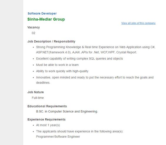 HA-MEEM GROUP - Post Title Software Engineer - Employment - programmer job description