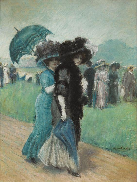 The Athenaeum - Elegant Ladies at the Races (Manuel Robbe - )