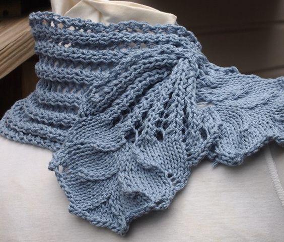 Hyacinth Rib Scarf PDF Hand Knitting Pattern: