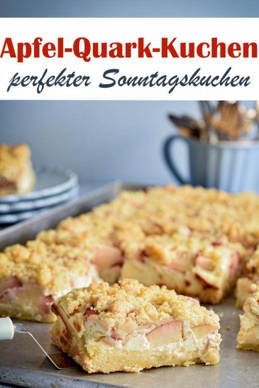 Apfel Quark Streuselkuchen Perfekter Sonntagskuchen In 2020 Quark Streuselkuchen Apfel Quark Kuchen Streusel Kuchen