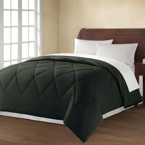 Mainstays Printed Bedding Comforter, Engineered Diagonal Stripe, Rich ...