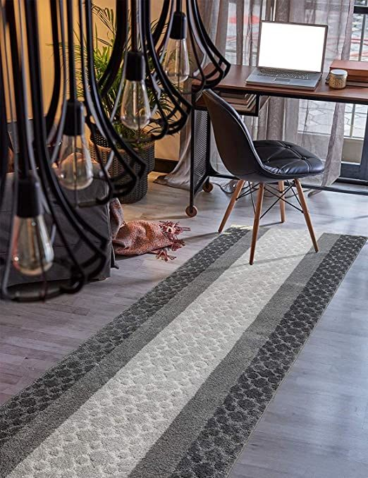 Custom Size Hallway Runner Rug Grey Color 31 Inch Wide Select Your Length Non Slip Skid Resistance Rubber Backin In 2020 Rug Runner Hallway Rug Runner Hallway Runner