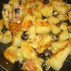 Pan-fried potato wedges with olives and feta @ allrecipes.co.uk