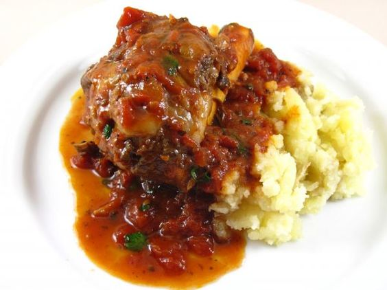lamb shanks braised with tomato