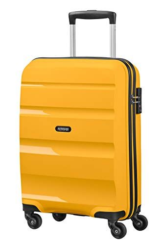 American Tourister Bon Air Spinner Small Strict Equipaje De Mano 55 Cm 31 5 Liters Amarillo Light Yellow Amer Equipaje De Mano Maleta De Cabina Equipaje
