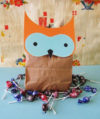 adorable owl goodie bag