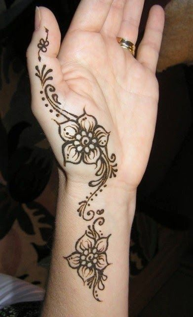 Mehndi Designs Hands Net Simple Easy : Mehndi simple and easy design hand tattoos