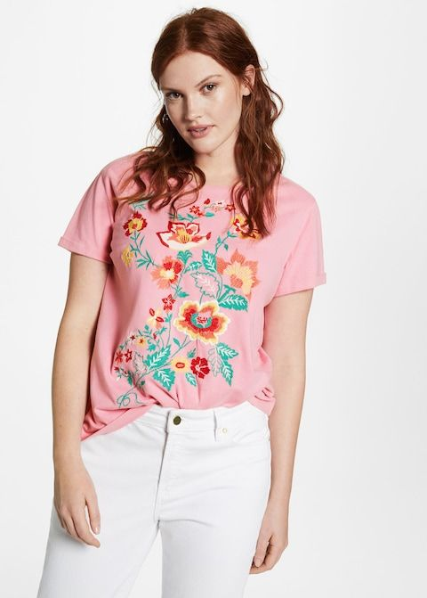 T-shirt coton broderies