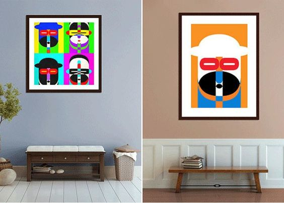 Artwork Greeting Card featuring the photograph Pop Art People On The Wall by Edward Fielding