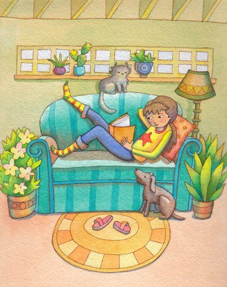 Blue Sofa | Linda Prater