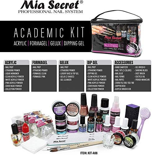 Amazing Offer On Mia Secret Professional Academic Nail Kit Acrylic Formagel Gelux Dip Gel Set For Beginners Students Kit A08 Online Stargreatshopping In 2020 Acrylic Nail Kit Nail Kit Professional