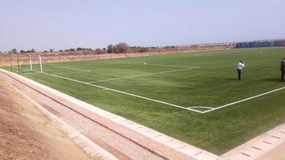A $500,000 articial turf has been commissioned at the Ghanaman Soccer of Excellence in Prampram by the Ghana Football Association (GFA)