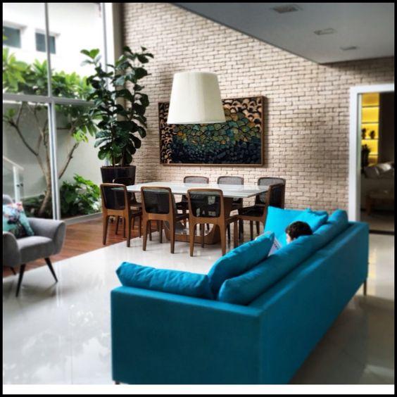 Sof azul turquesa decora o pinterest for Sofa azul turquesa