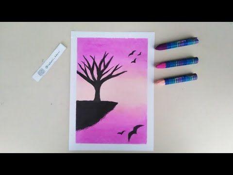 Pastel Boya Ile Manzara Cizimi Crayon Study Drawing Drawingart Crayons Youtube 2020 Mum Boya Pastel Boyalar Cizim Egitimleri