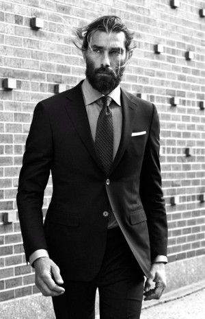 Astounding Beard Suit Beards And Suits On Pinterest Short Hairstyles Gunalazisus
