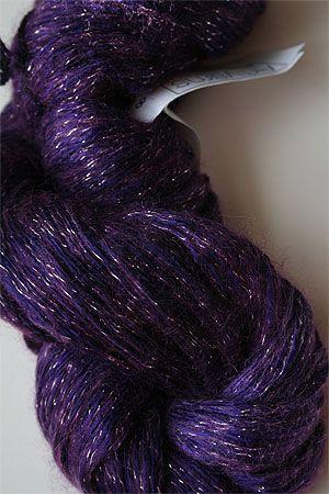 Silk Rhapsody Mohair Glitter Light Yarn in   298 with Silver lurex glitter