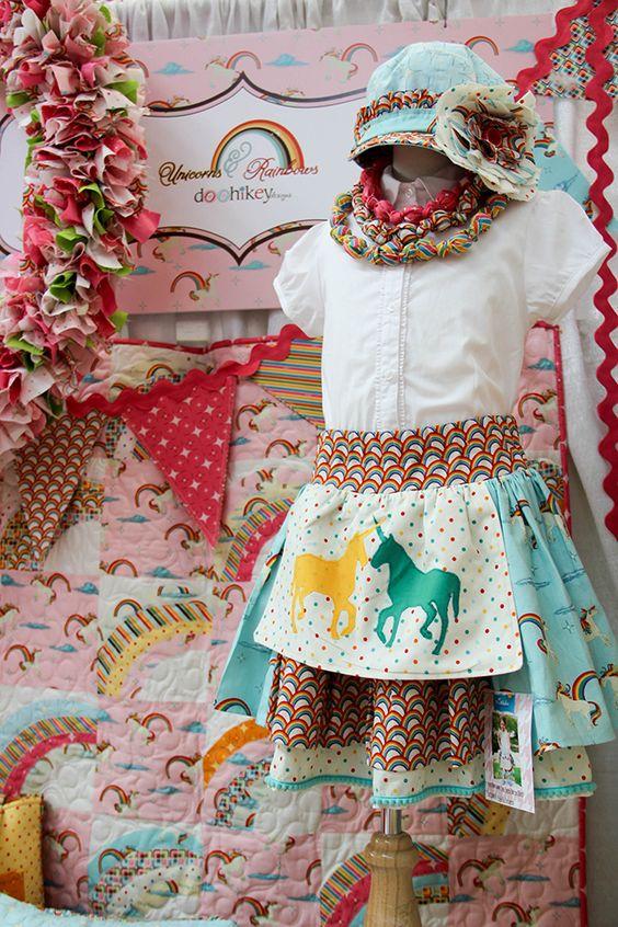 Unicorns & Rainbows / Riley Blake / Quilt Market / Fabric Depot #rileyblakedesigns #unicorns #rainbows #doohikey