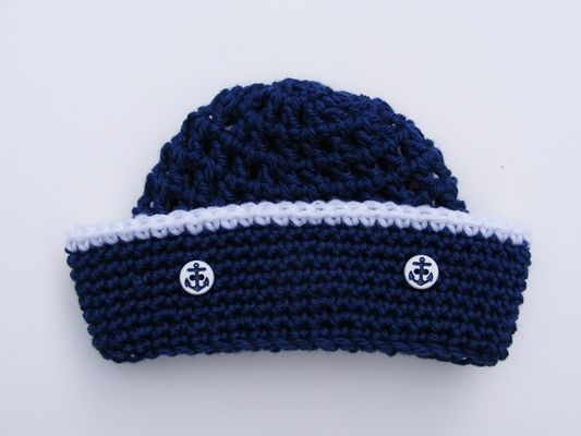 Crochet Pattern Sailor Hat : Sewing patterns, Sun and Products on Pinterest