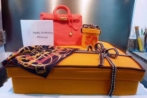 hermes birkin and scarf cake | Flickr - Photo Sharing!