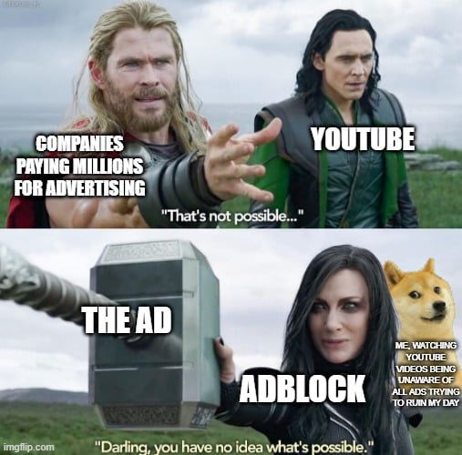Youtube Ads Vs Adblock Youtube Ads Youtube Best Funny Pictures