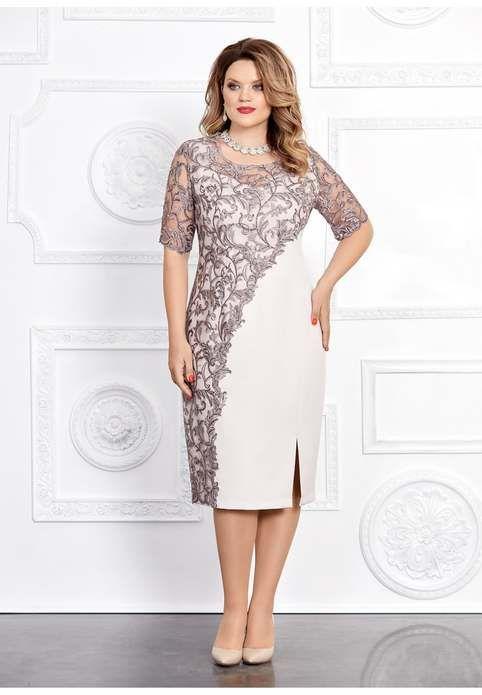 Платья для полных девушек и женщин белорусского бренда Mira Fashion осень 2019