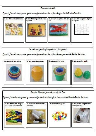 Brevets accueil (puzzle, boites gigognes, ateliers de manip)