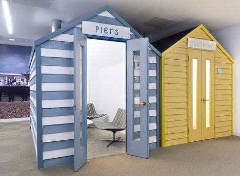 Google's Office in London-libraries need to get playful with adults-check other Google offices for their examples of collaborative/play areas