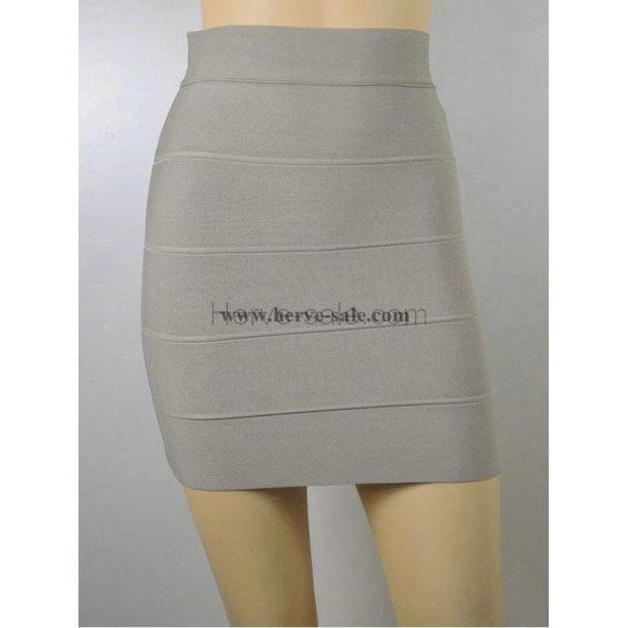Herve Leger Grey Skirt S026G
