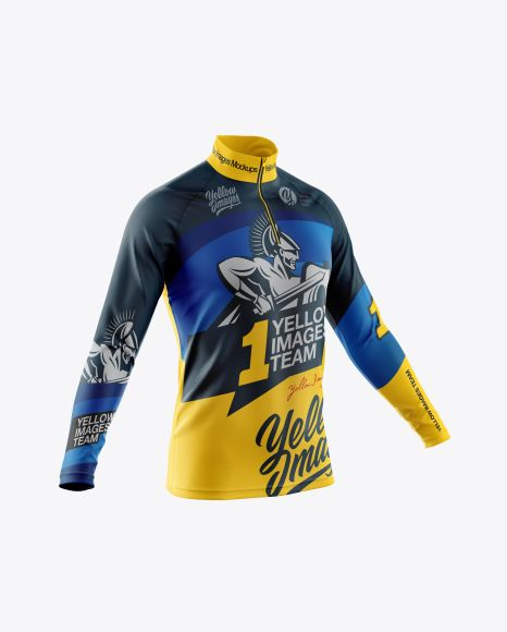 Download Men S Cycling Jersey With Long Sleeve Mockup Half Side View In Apparel Mockups On Yellow Images Object Mockups Clothing Mockup Design Mockup Free Shirt Mockup
