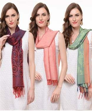 Poly Silk Stole (Set of 3) | I found an amazing deal at fashionandyou.com and I bet you'll love it too. Check it out!