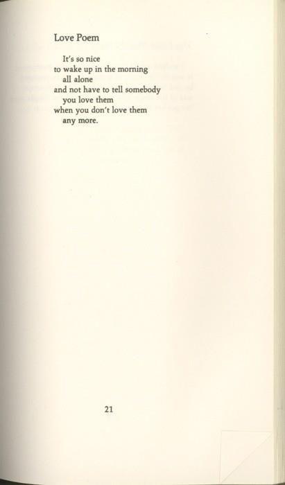Love poem, Charles Bukowski …