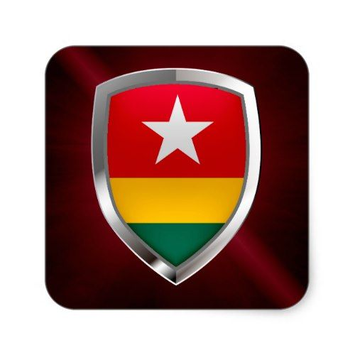Togo National Country Flag Pinback Button Pin Badge