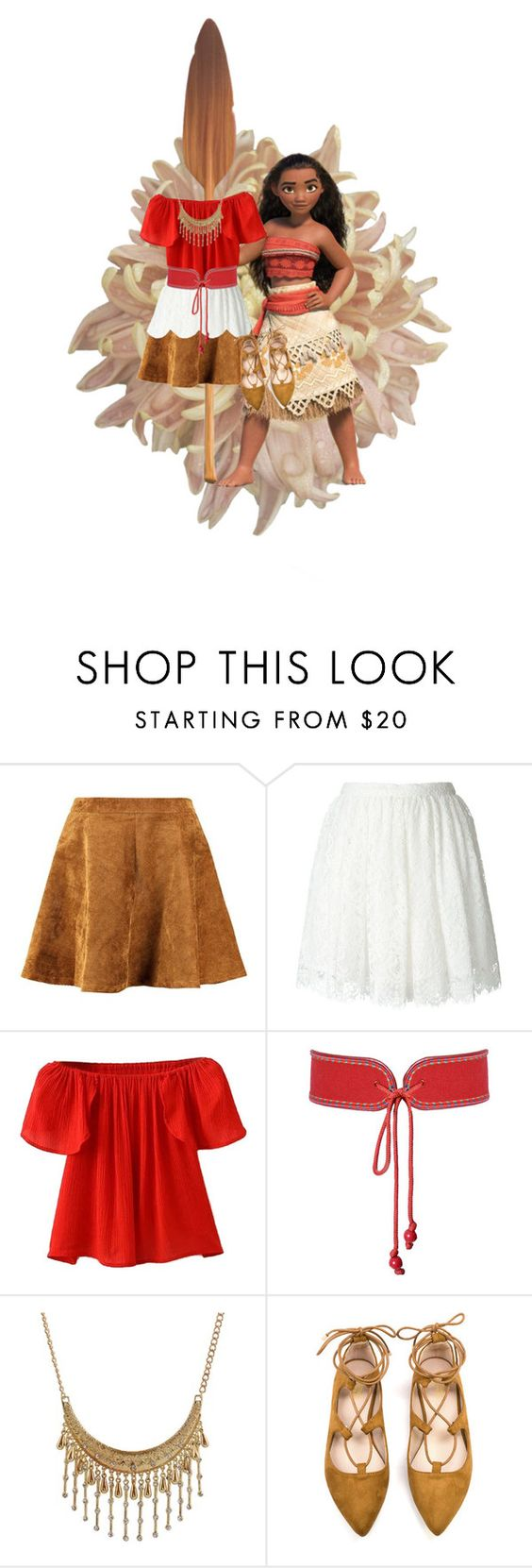"""""""Moana"""" by kumaray ❤ liked on Polyvore featuring IRO, WithChic and Yves Saint Laurent"""