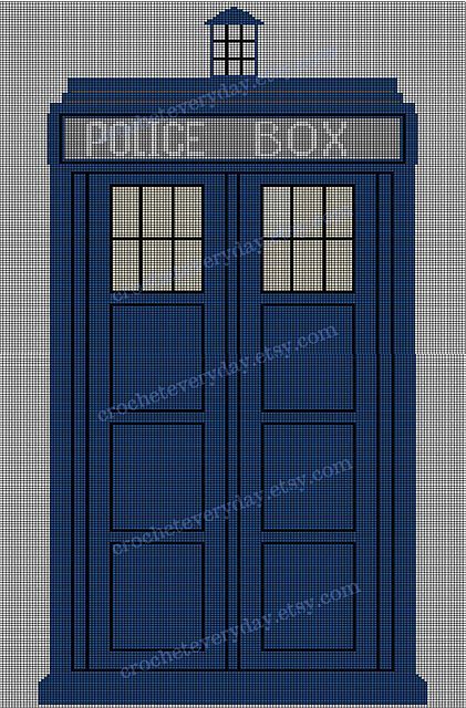 Ravelry: police box blanket pattern by Abby McGinnis