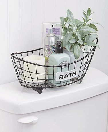 Country Bath Storage Basket Bathroom Accents Bath Storage Bathroom Decor