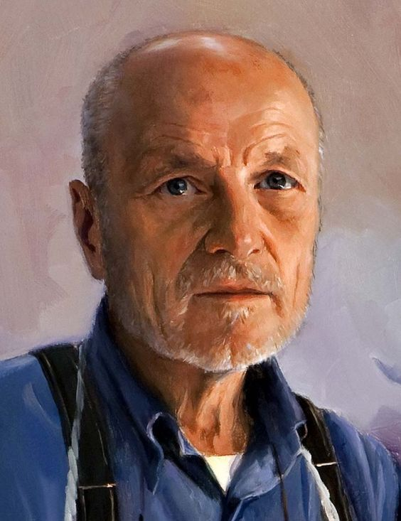 For the Love of Art: magnificent works of the Spanish artist Ricardo Sanz. Retrato del pintor Antonio López García (detalle)