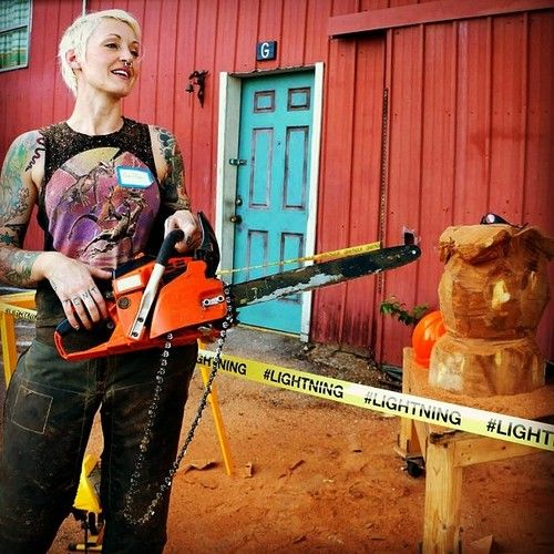 Griffon ramsey chainsaw artist women pinterest
