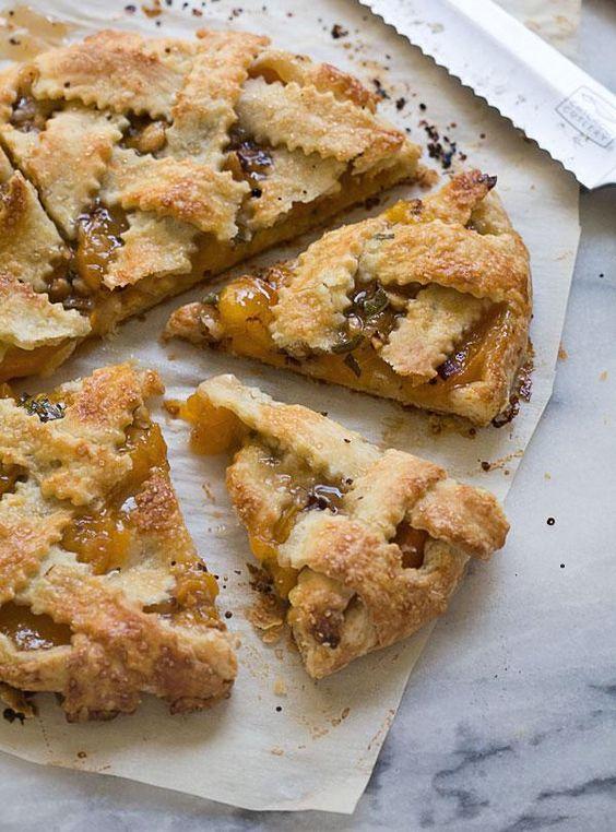 Apricot Sage Galette / Cozy Kitchen