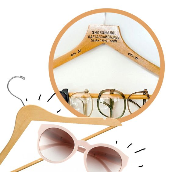 Ótima ideia para guardar e organizar seus óculos!
