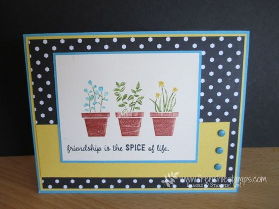 Stamp & Scrap with Frenchie: Everyday card with Gift from the Garden
