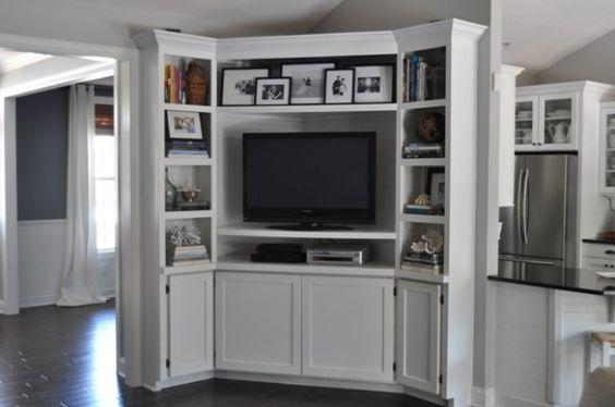 Corner Tv Unit Diy Tv And Built Ins On Pinterest