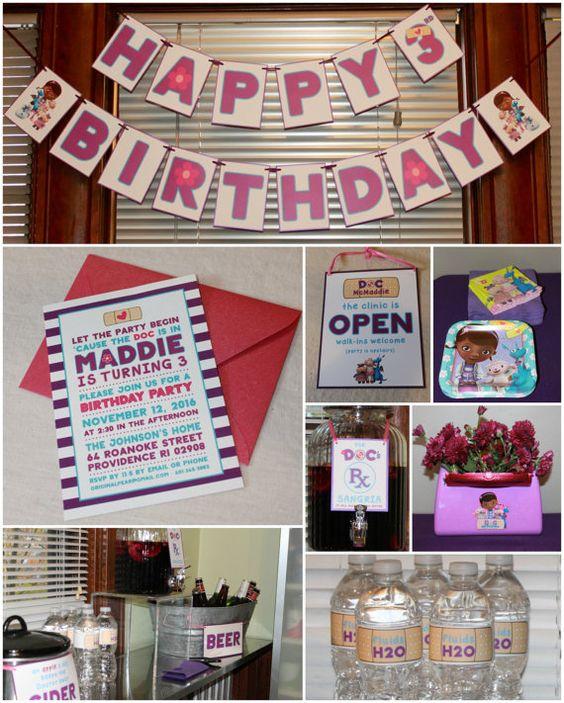 Doc McStuffins Birthday Invitation by LittlePearInvites on Etsy
