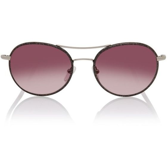 Karl Lagerfeld Rounded Saffiano (5.360 RUB) ❤ liked on Polyvore featuring accessories, eyewear, sunglasses, gold, round glasses, karl lagerfeld sunglasses, round frame glasses, lens glasses and round lens glasses