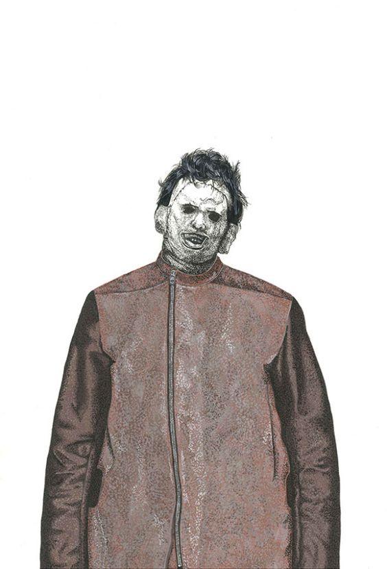 O ilustrador David Murray convocou uma seleção de modelos assustadores para apresentar as criações de Rick Owens, Dries Van Noten, JUUN.J e Moschino, entre outros. http://tracosurbanos.blogspot.com.br/