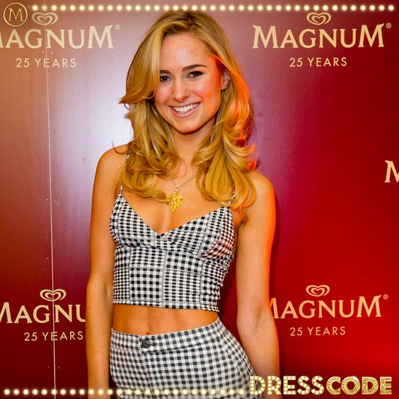 Made in Chelsea's Kimberley at our #MagnumDressCode party
