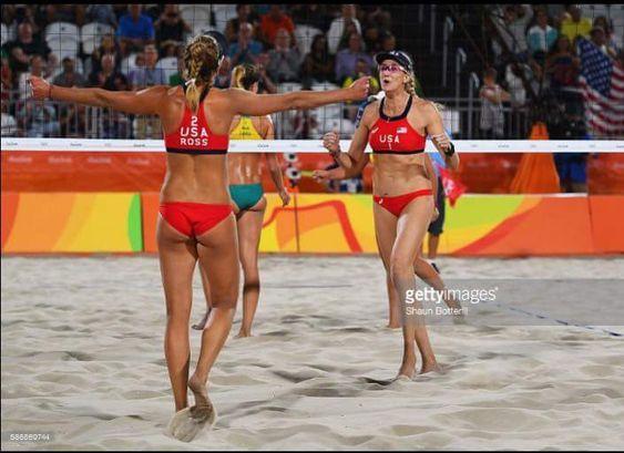 April Ross and Kerri Walsh Jennings Rio Olympics 2016
