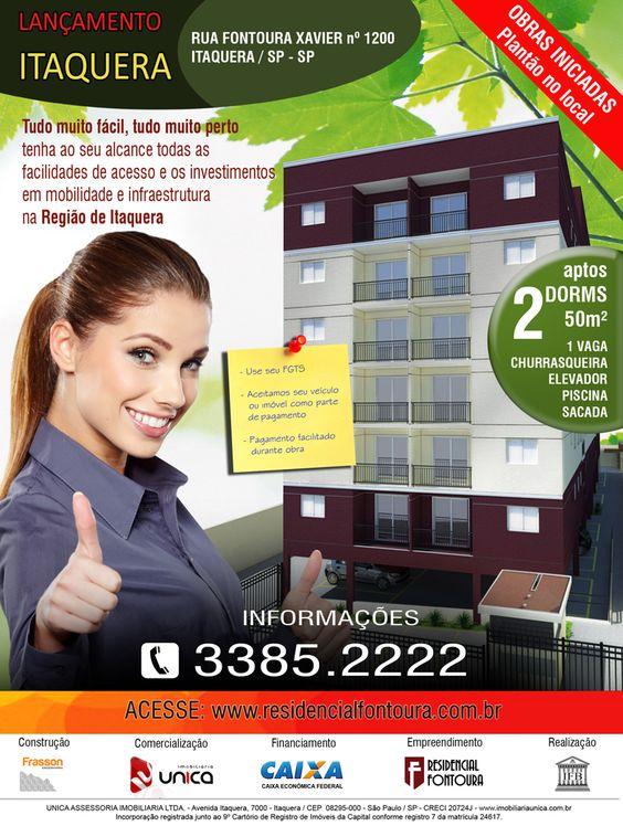 Panfleto de lançamento - apartamentos em Itaquera