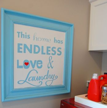 Laundry room printable from A Pop of Pretty