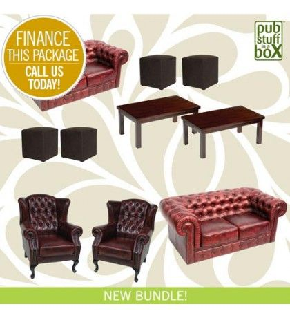 Pub Stuff In A Box Deluxe Furniture Bundle Comprises Of 2 X