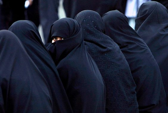 In Chador: